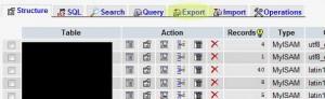tab export