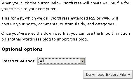 Export WordPress.com, Import to your WordPress